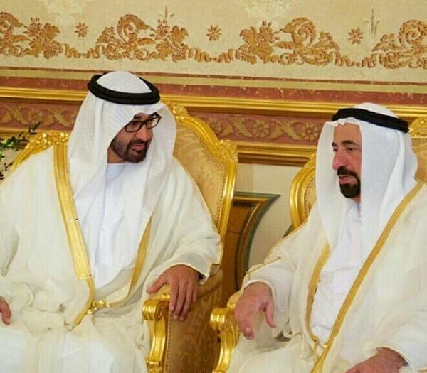 حاكم الشارقة وولي عهد أبوظبي