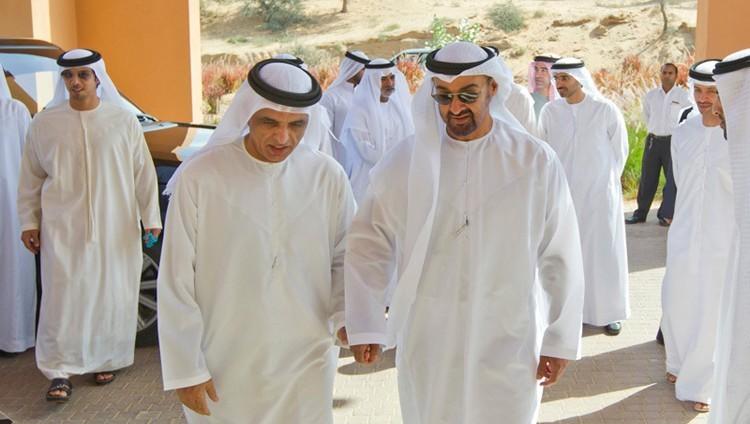 محمد بن زايد وحكام رأس الخيمة