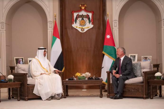 عبدالله الثاني ومحمد بن زايد