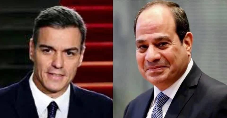 السيسي ورئيس وزراء اسبانيا
