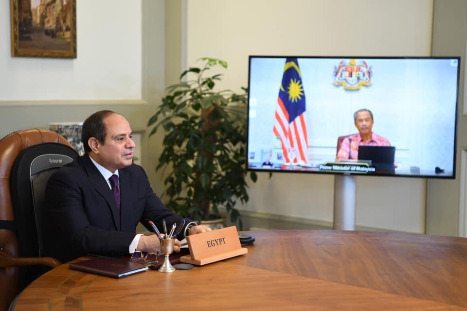 السيسي ورئيس وزراء ماليزيا