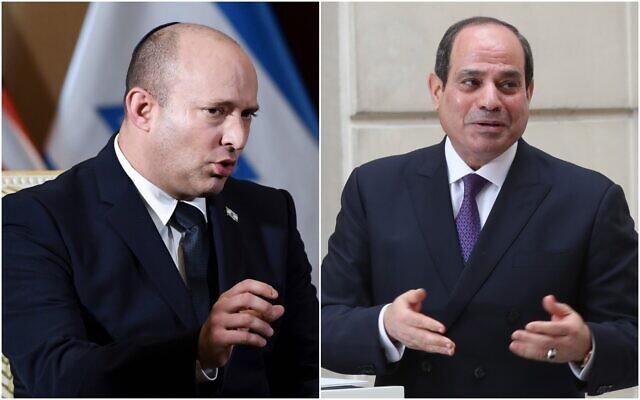 السيسي ورئيس الوزراء الإسرائيلي