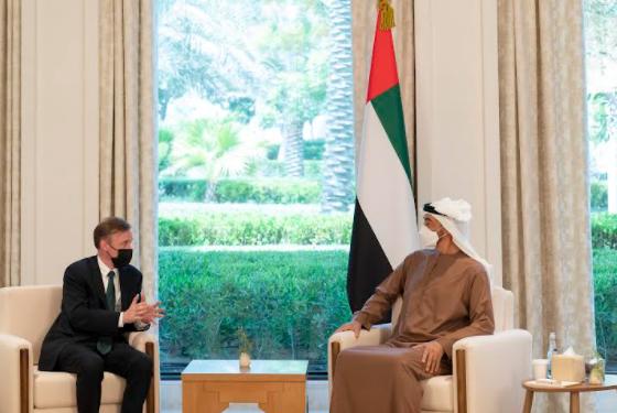 محمد بن زايد ومستشار الأمن القومي