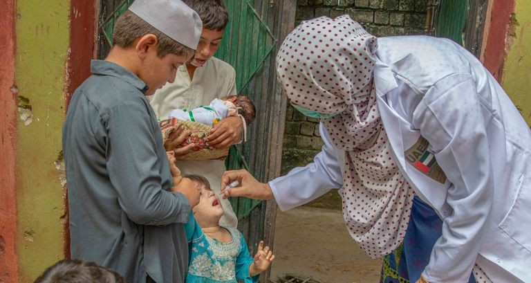 تطعيم أطفال باكستان