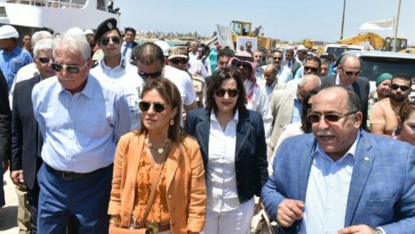 أثناء افتتاح مصنع لمبات الليد بجنوب سيناء