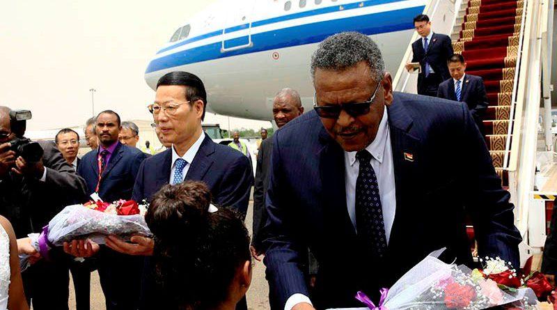 تشانج جاو لي لحظة وصوله السودان