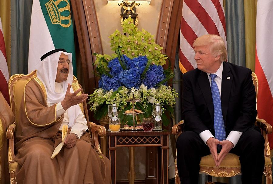الرئيس الأمريكى ترامب وأمير الكويت