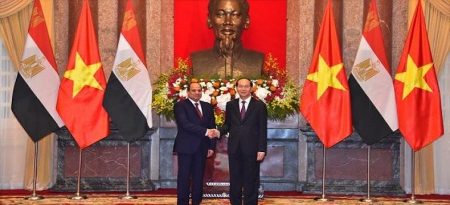 السيسي والرئيس الفيتنامي