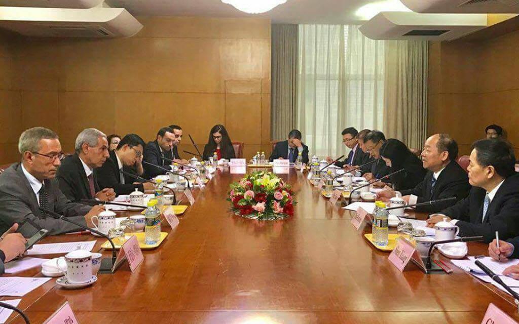 وزير التجارة والصناعة المصري طارق قابيل خلال الإجتماع