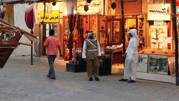 أحد الأسواق القطرية