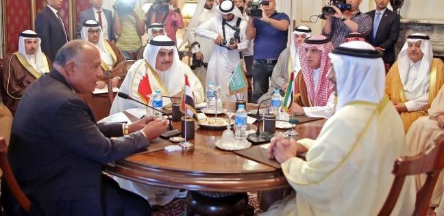 وزراء خارجية مصر والسعودية والإمارات والبحرين