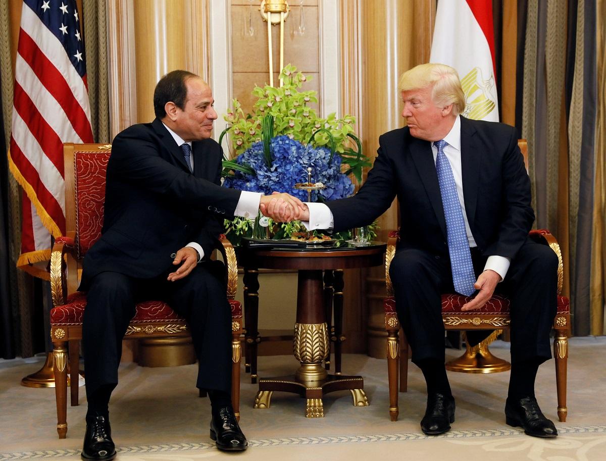 الرئيس المصري ونظيره الأمريكي