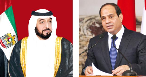 الرئيس السيسي والشيخ خليفة بن زايد