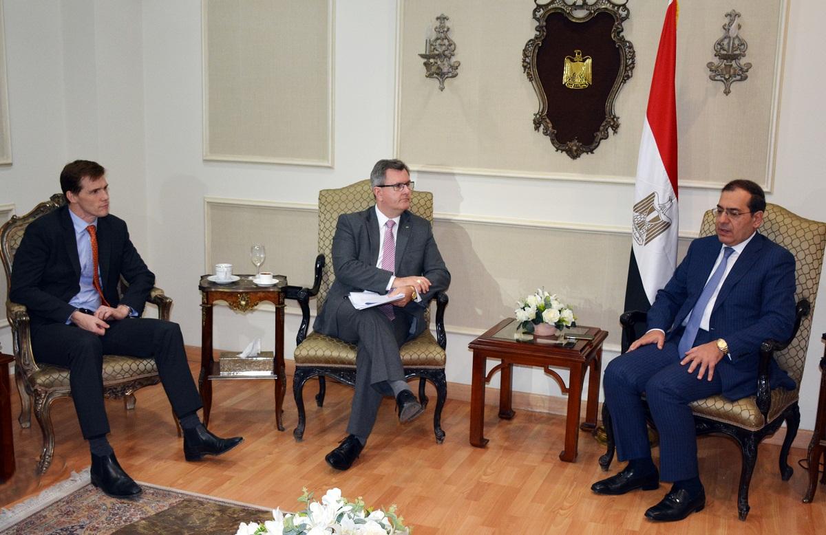 وزير البترول المصري خلال اللقاء