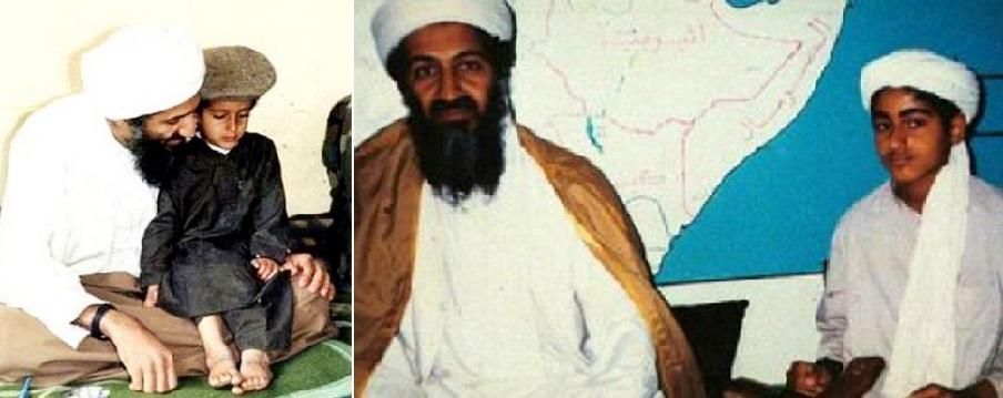 حمزة مع والده أسامة بن لادن