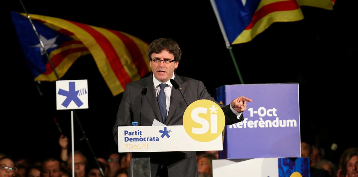 كارلس بودجمون، زعيم إقليم قطالونيا في إسبانيا