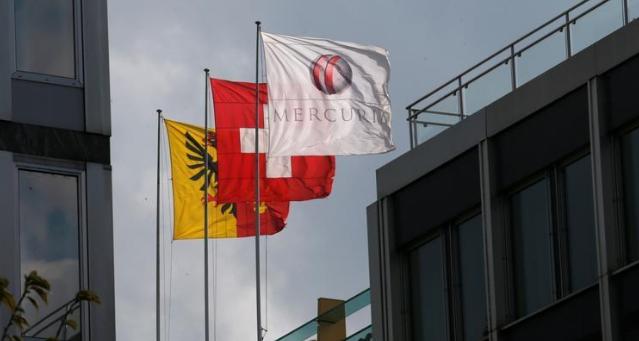 شعار شركة ميركيوريا في جنيف في سويسرا