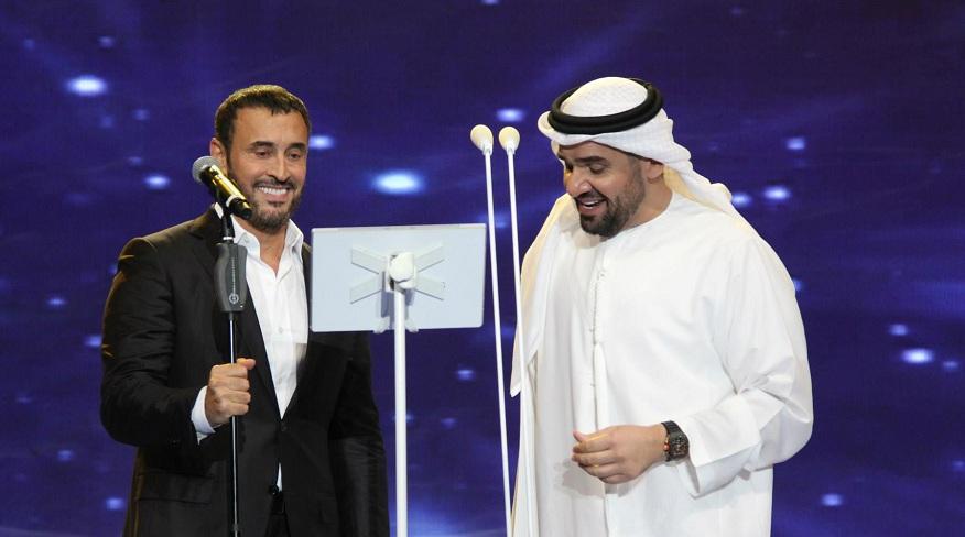حسين الجسمي وكاظم الساهر