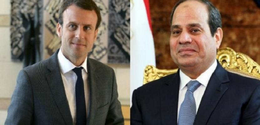 الرئيس المصري ونظيره الفرنسي