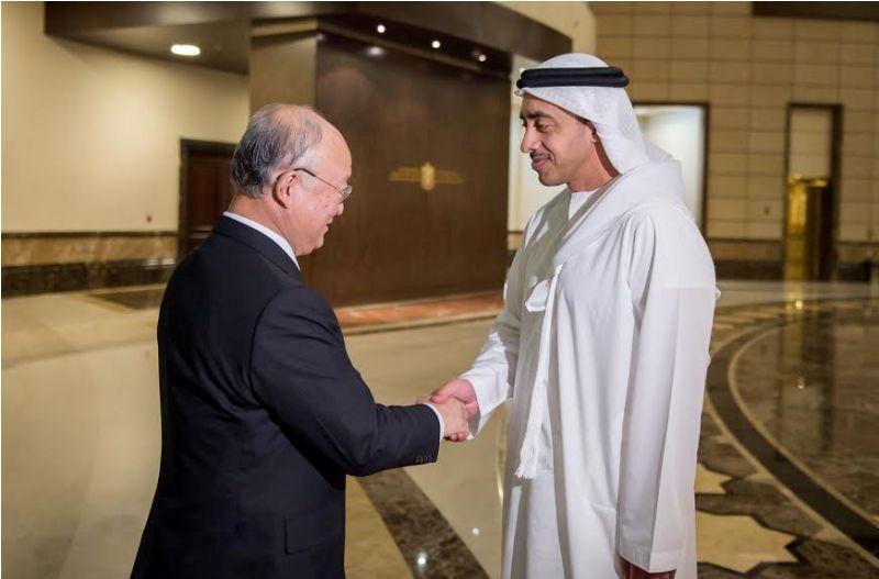محمد بن زايد يستقبل مدير عام الوكالة الدولية للطاقة الذرية