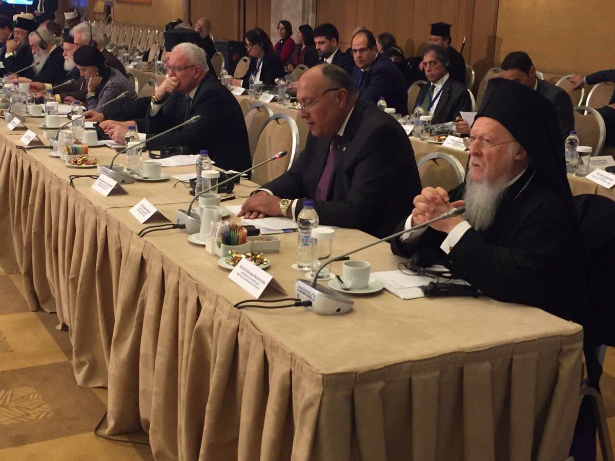 وزير الخارجية خلال مؤتمر التعددية الدينية والثقافية