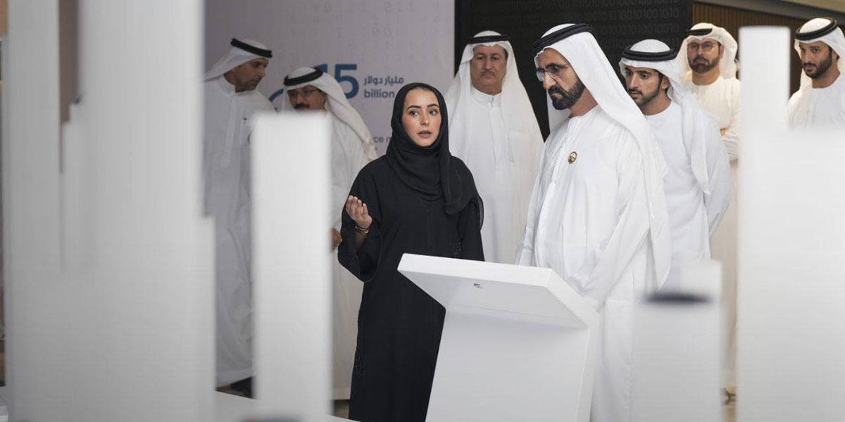 الشيخ محمد بن راشد خلال إعلان مبادرة مليون مبرمج عربي