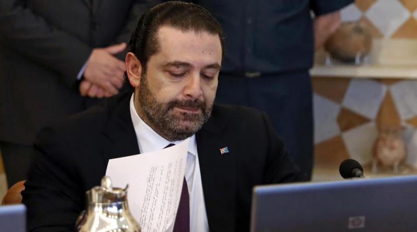 رئيس الحكومة المستقيل سعد الحريري