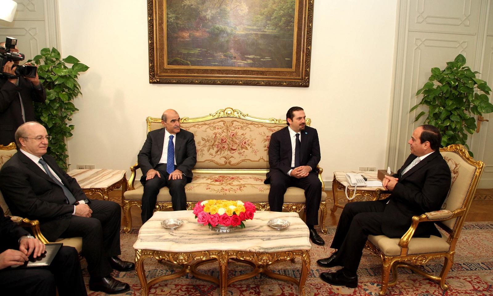 الرئيس المصري وسعد الحريري