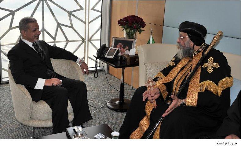 السفير السعودي يزور البابا تواضروس