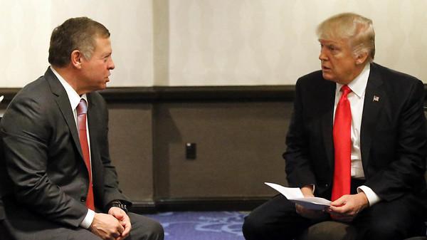 ترامب والعاهل الأردني