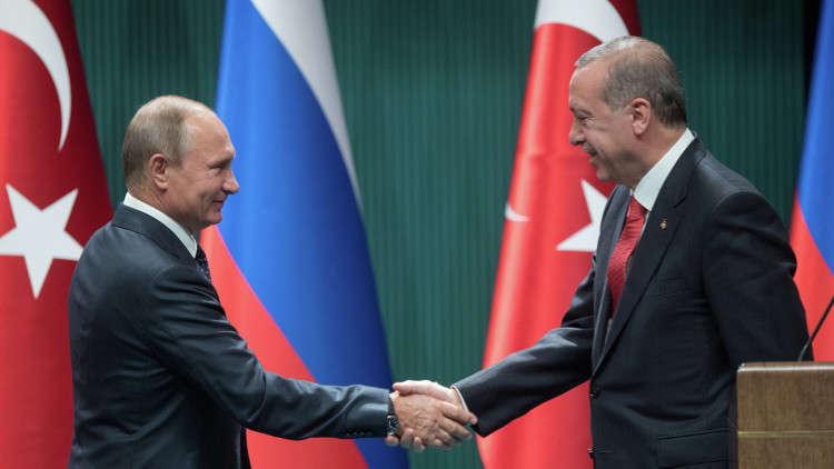 فلاديمير بوتين ونظيره التركي