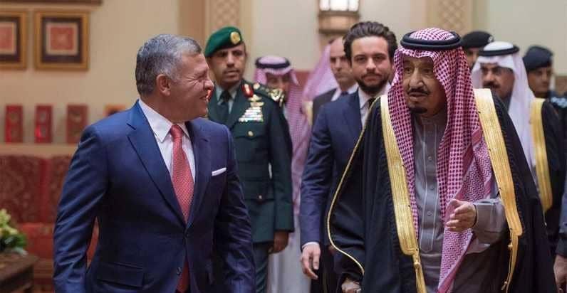 العاهل السعودي الملك سلمان بن عبدالعزيز والعاهل الأردني