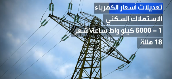 الأسعار الجديدة للكهرباء في السعودية