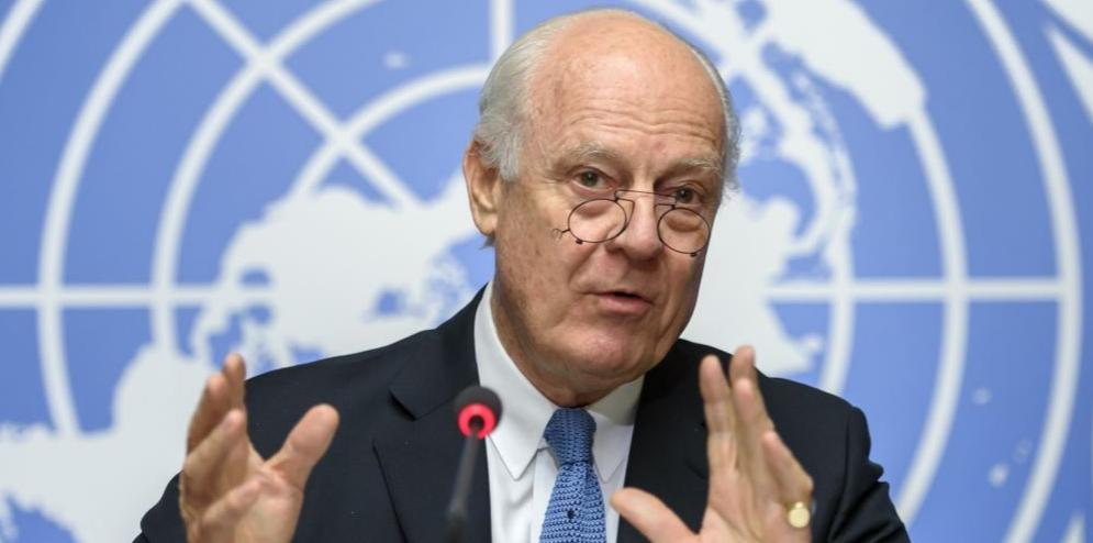 مبعوث الامم المتحدة الى سوريا ستافان دي ميتسورا صورة ارشيفية