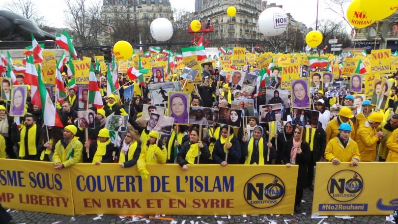 مظاهرات فى باريس ضد النظام الإيرانى