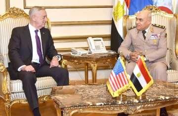 وزير الدفاع الأمريكي يؤكد موقف بلاده الداعم لمصر