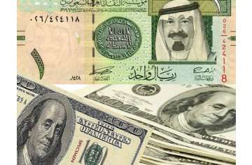 الريال السعودي والدولار الأمريكي