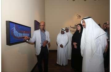 افتتاح معرض جديد للخطاط المشهور تاج السر حسن
