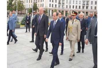 الرئيس السيسي خلال زيارته لبرلمان بيلاروسيا