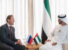 الشيخ محمد بن زايد يستقبل المشاركين في مؤتمر دبي للطيران