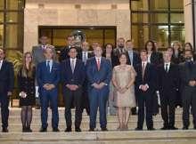 محمد عبدالوهاب ووفد التجارة الأمريكي بمركز خدمات المستثمرين