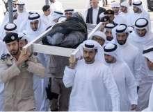 تشييع جثمان سلطان بن زايد