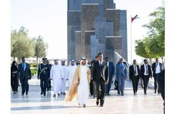 رئيس زامبيا يزور واحة الكرامة في أبوظبي