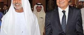 جمال المجايدة والشيخ نهيان بن مبارك