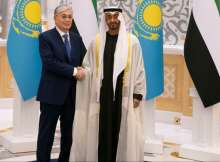 مراسم استقبال رئيس كازاخستان