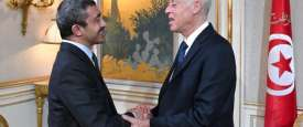 الرئيس التونسي مع وزير الخارجية