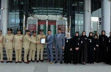 شرطة دبي اول مؤسسة امنية خضراء