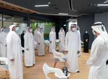 H.H. Sheikh Hamdan bin Mohammed bin Rashid Al Maktoum during his meeting with  Director-Generals and Executives of various Dubai Government entities