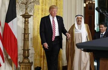 أمير الكويت وترامب