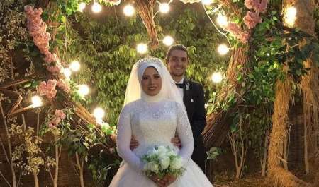بالصور.. زفاف أحمد وصابرين وسط الأهل والأصدقاء
